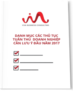 Các thủ tục tuân thủ thuế - kế toán - nhân sự - 2017