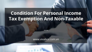 Income Tax Exemption - Condition For Personal Income Tax Exemption