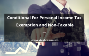 Condition for personal income tax exemption and non - taxable