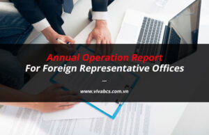 Annual operation report for foreign representative offices