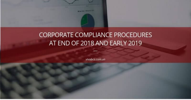 Corporate Compliance Procedures At End Of 2018 And Early 2019