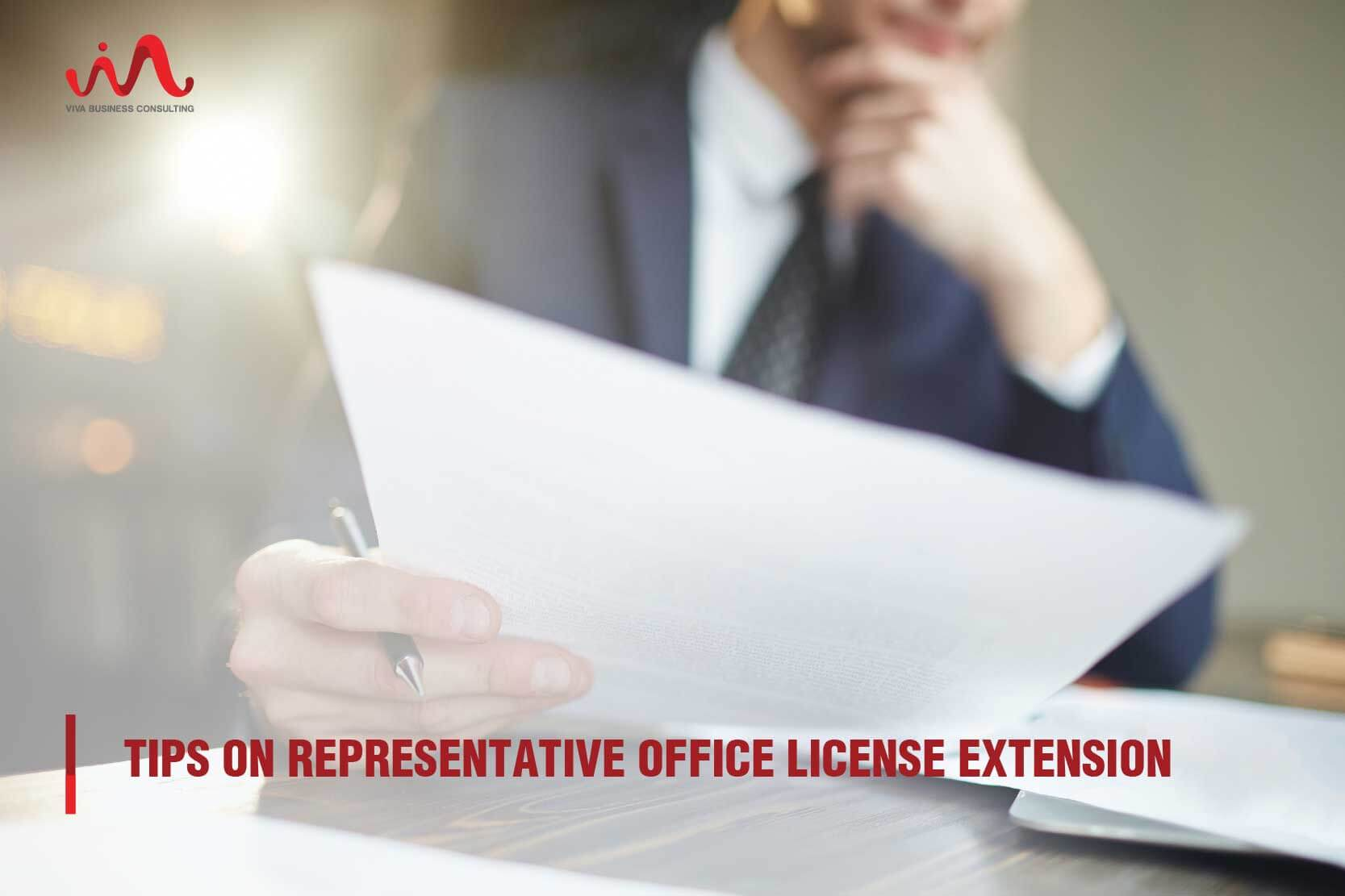 License extension of representative office in Vietnam