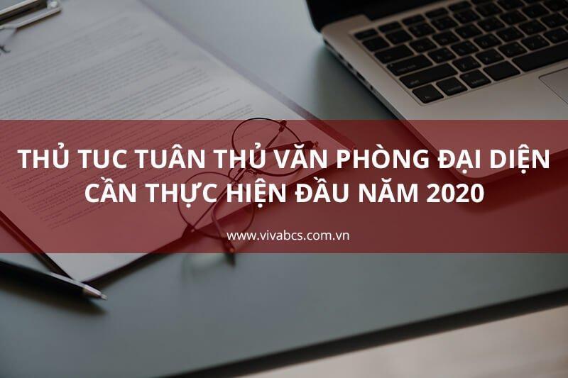 Thủ tục tuân thủ văn phòng đại diện năm 2020