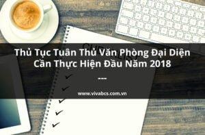Thủ tục tuân thủ văn phòng đại diện nước ngoài tại Việt Nam