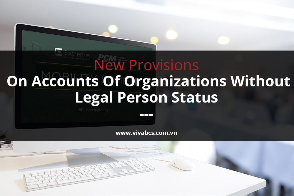 organizations without legal person status
