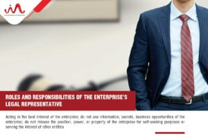 Legal Representative - Roles and responsibilities of the enterprise's