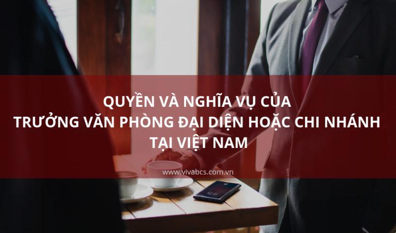 quyền và nghĩa vụ của trưởng văn phòng đại diện hoặc chi nhánh tại việt nam
