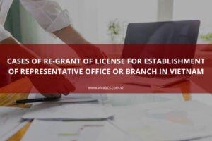 License for establishment of representative office in Vietnam