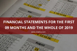 Manage the financial statements 2019