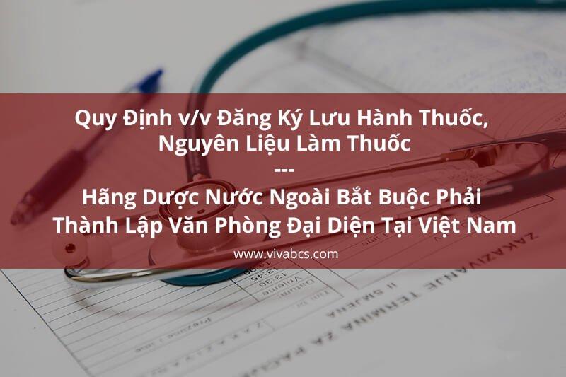 Quy định vể việc đăng ký lưu hành thuốc tại Việt Nam