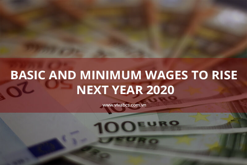 Regional minimum wages next year 2020