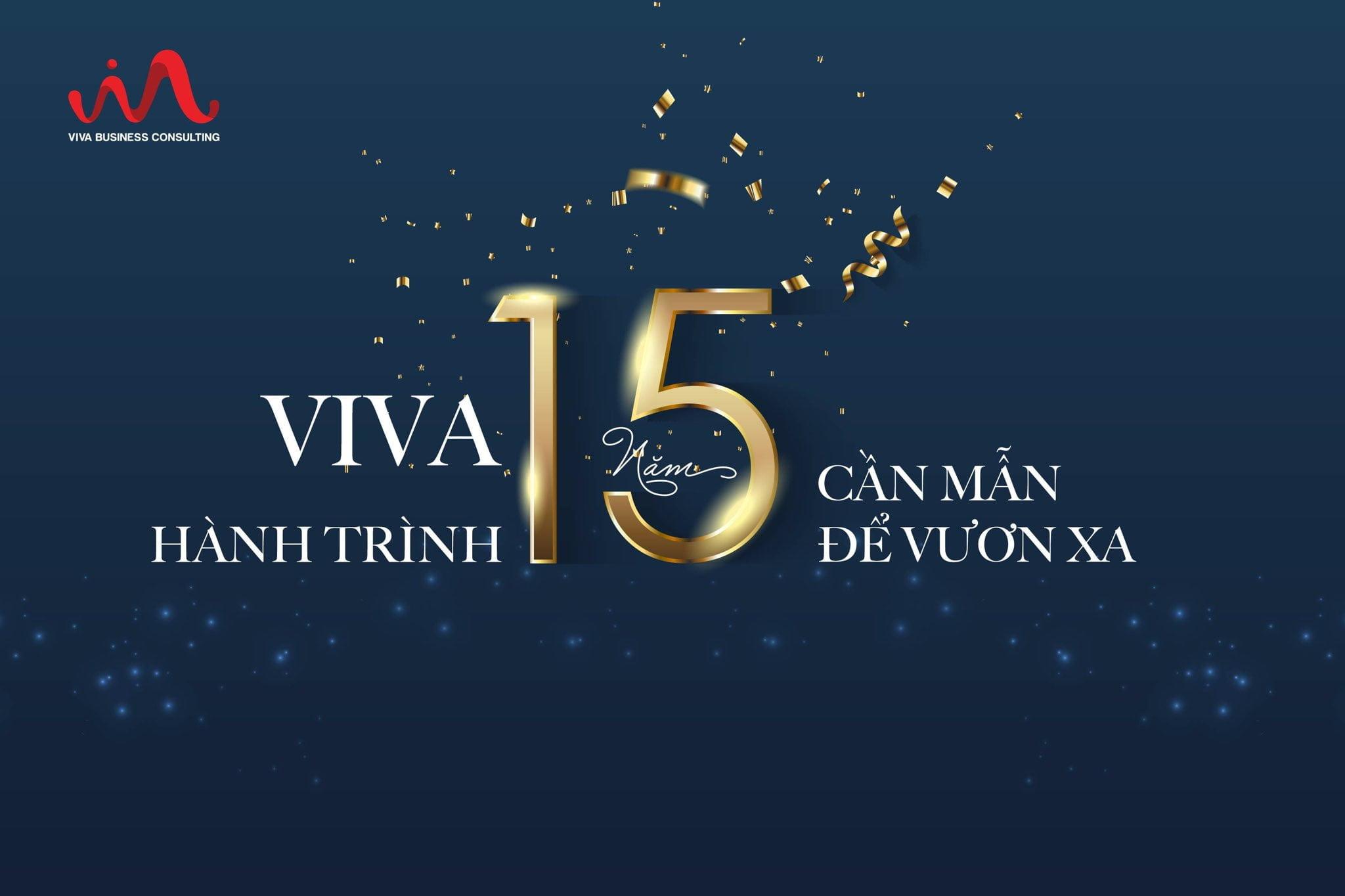 15 năm thành lập VIVA banner