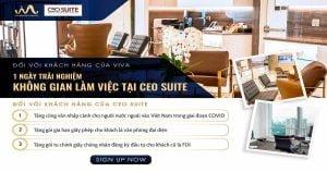 Trải nghiệm miễn phí văn phòng hạng A cùng CEO SUITE x VIVA