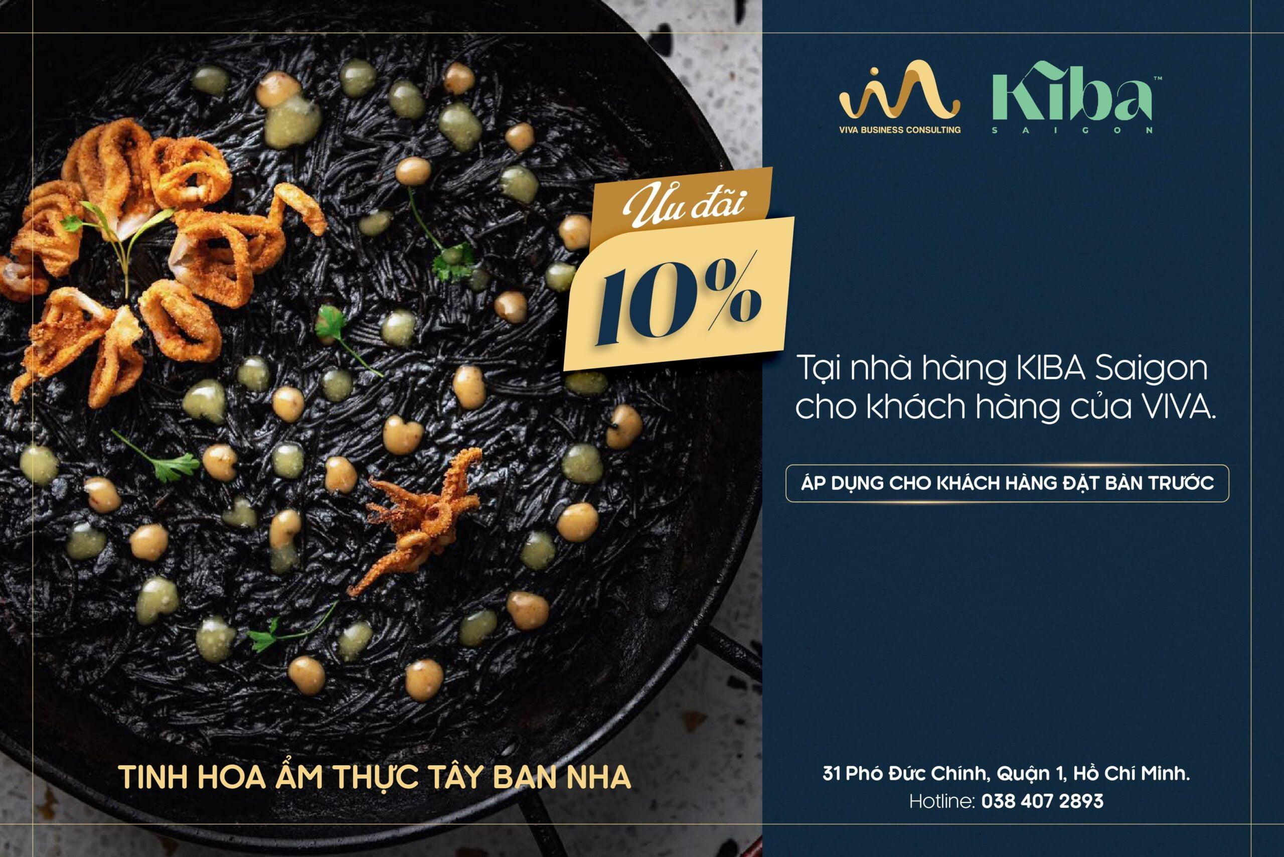 Ưu đãi từ nhà hàng Kiba Saigon cho khách hàng của VIVA