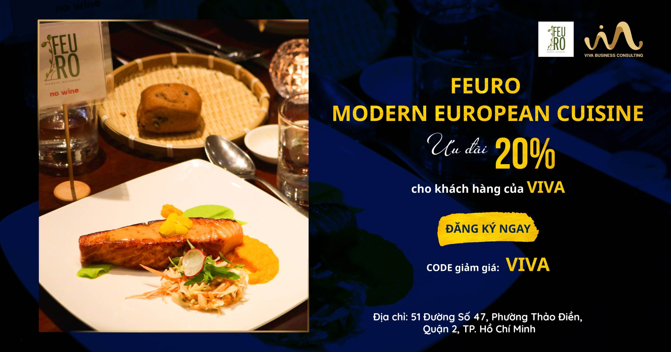Ưu đãi từ nhà hàng FEURO Saigon dành riêng cho khách hàng của VIVA