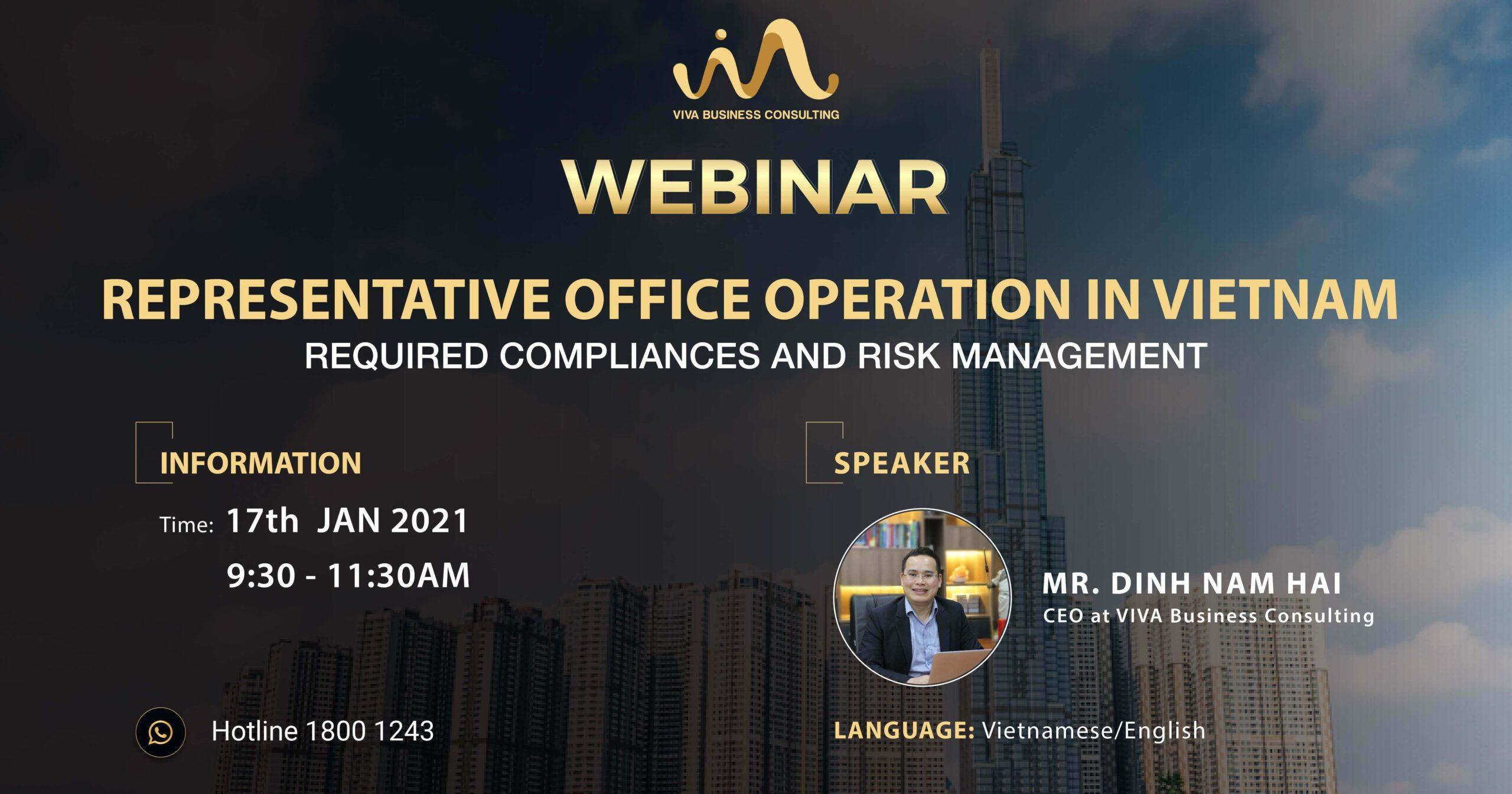 Webinar representative office - Risk management